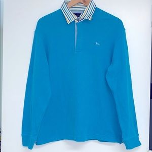 HARMONT & BLAINE SWEATER IN TURQUOISE